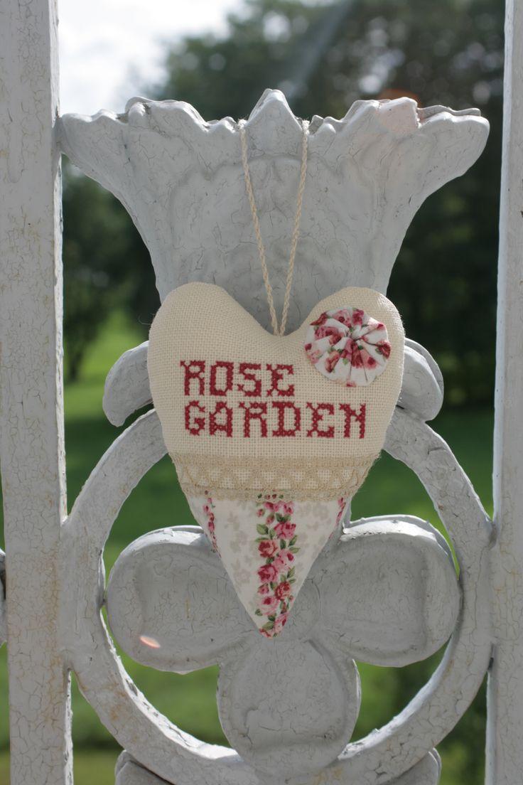 fabric rose heart