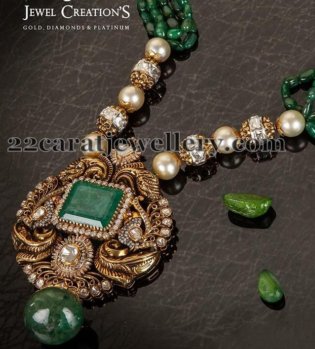 Jewellery Designs: South Sea Pearls Diamond Balls Set