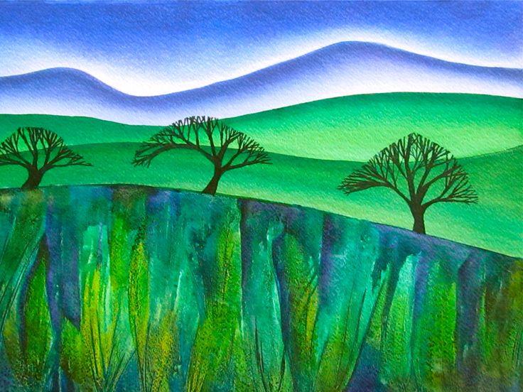 Landscape painting www.raewynharris.nz