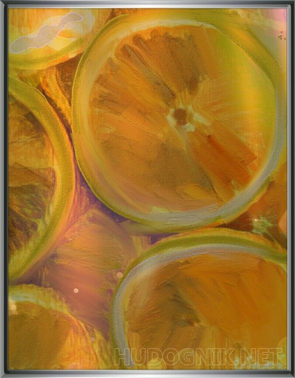 Цитрусовый рай Арт картина 40х35 холст Работа Цитрусовый рай выполнена смешанной техникой в стиле импрессионизм 2016г г Одесса