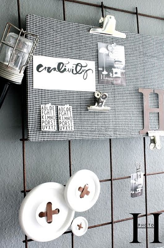 DIY wire memo board by trendenser