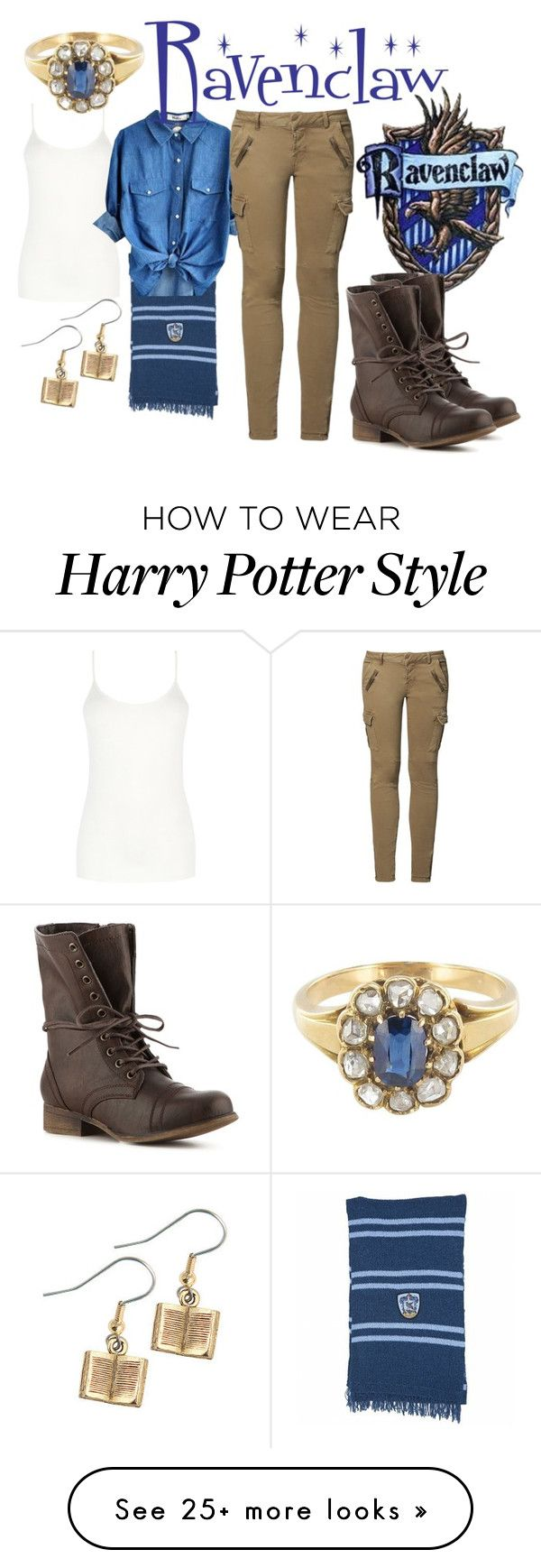 """Ravenclaw Casual"" by aquatic-angel on Polyvore featuring Oasis, Mos Mosh and Madden Girl"