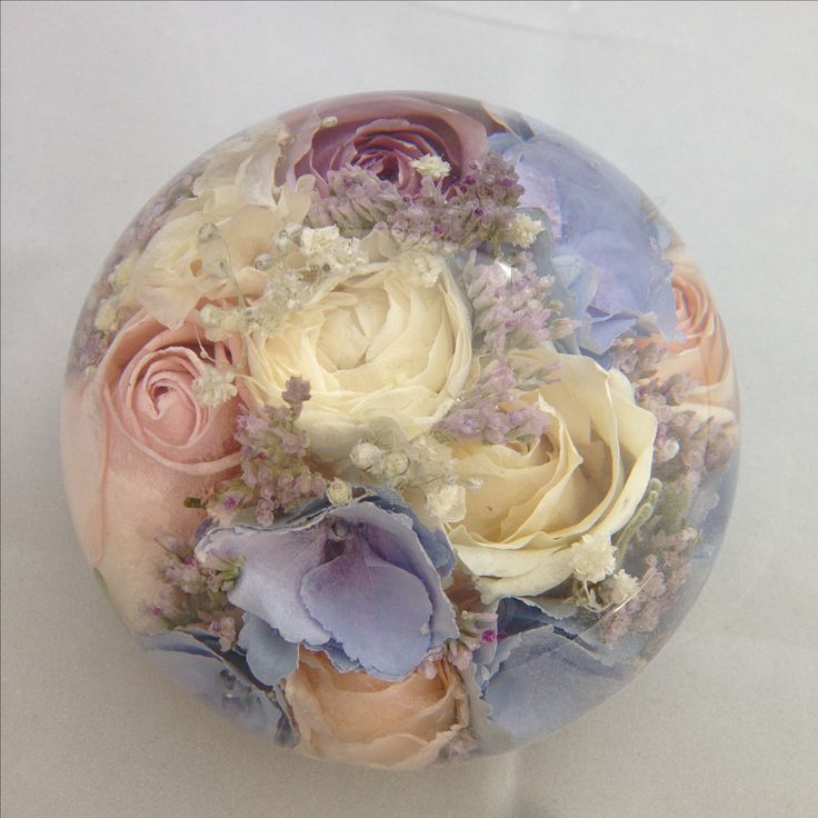 Wedding Flowers In Resin