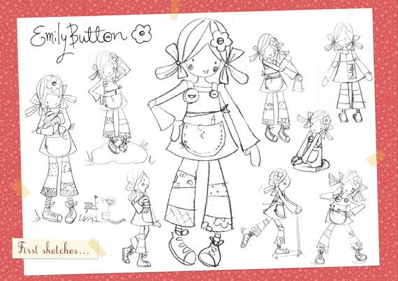 Can you help to colour in Emily? You could use crayons or felt tips or even collage with bits of paper and ribbon.