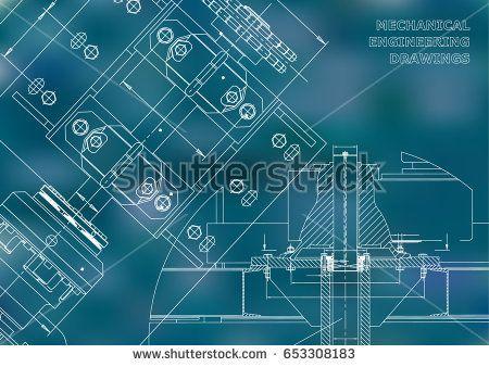 Engineering backgrounds. Technical Design. Mechanical engineering drawings. Blueprints. Blue  #bubushonok #art #bubushonokart #design #vector #shutterstock  #technical #engineering #drawing #blueprint   #technology #mechanism #draw #industry #construction #cad