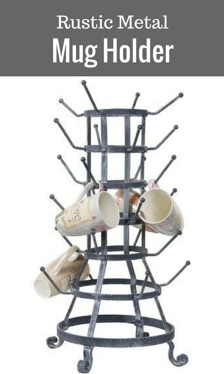 Get Your Kitchen Countertops Organized With This Rustic Mug Holder Beautiful Will Keep