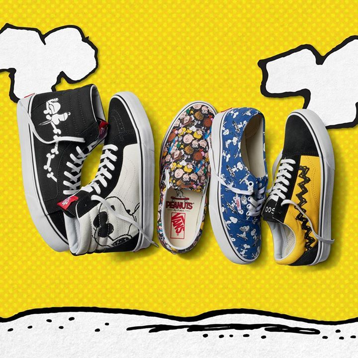CollectPeanuts.com on Facebook - Joe Cool is showing off his skateboard tricks! Shop the Vans X Peanuts Collection for shoes shirts hats and more featuring Snoopy Charlie Brown and Woodstock: http://cpnuts.com/vans