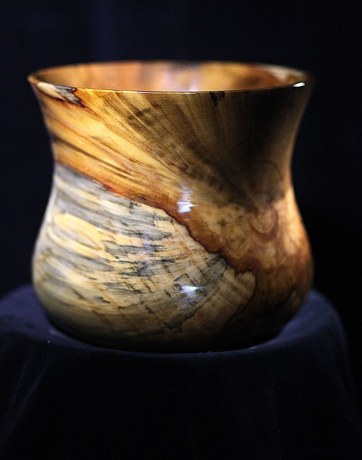 Turned wood vessel by Mike O'Reilly.