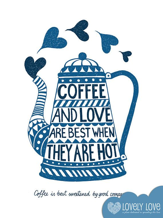 Kitchen Art / coffe print /  Love & Coffee #coffee #love