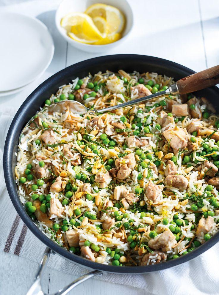 Recette de Ricardo de riz aux vermicelles, au poulet et aux petits pois