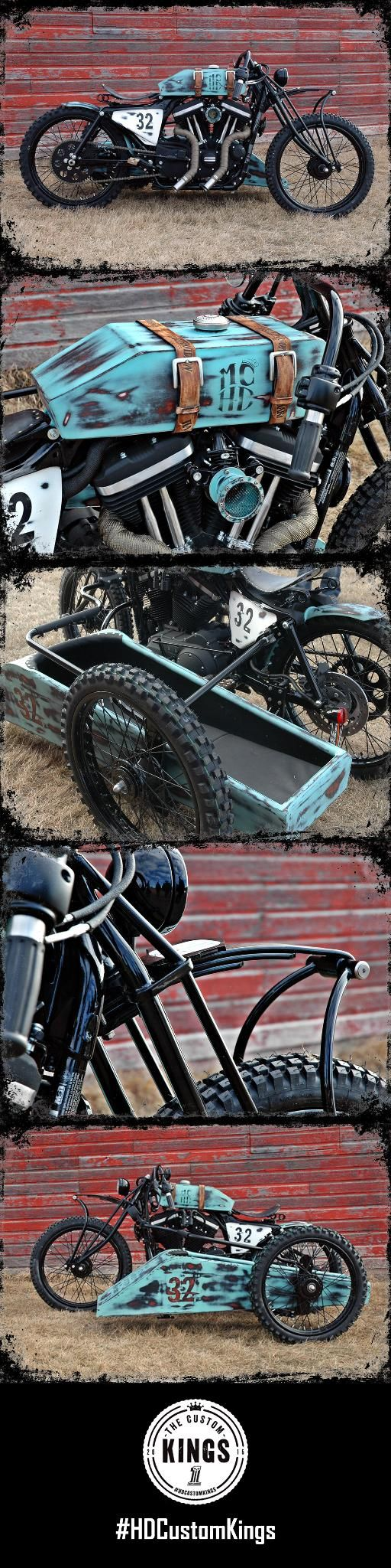 """Magic City Harley-Davidson's build, """"Bonnie & Clyde"""", was inspired by the Harley race bikes of the early 1900's. 