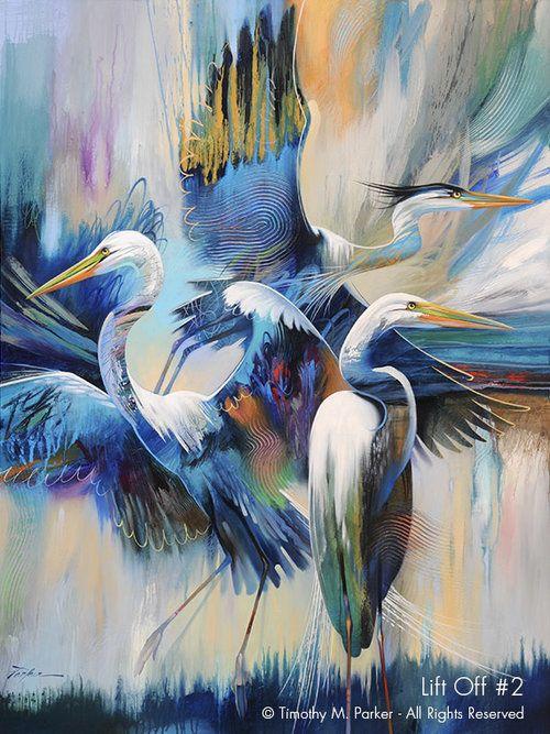 Lift Off #2 • Tropical Birds Fine Art Print