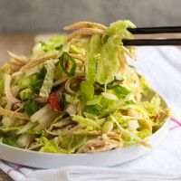 From our blog: Shredded Chicken Salad with Asian Ginger Sauce -- After a little holiday indulgence (or overindulgence!), this yummy salad makes us love to detox. It's super-simple and really satisfying, thanks to protein-rich lean chicken, alkalizing napa cabbage, cleansing daikon radish, and an awesome gingery dressing.
