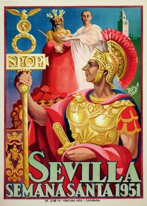 SEVILLA / SEMANA SANTA  in Spain 1951