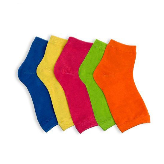 6 Pairs: Women'S Neon Pedicure Socks