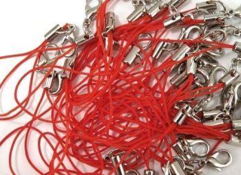 Přívěsek s karabinkou - červený ( 10ks v balení ) 3+1 ZDARMA
