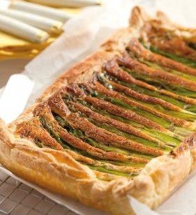 groene asperge taart