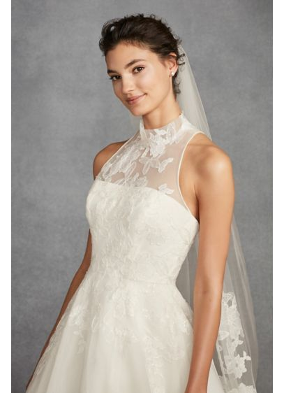 e3f6301ba5 White by Vera Wang Illusion Floral Wedding Dress VW351426
