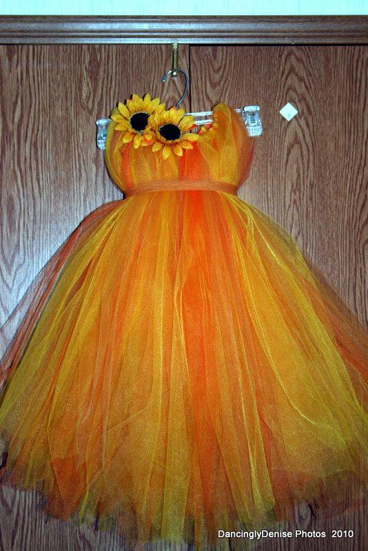 Fall tutu dress for an Autumn Princess size by AllDressedUpCouture