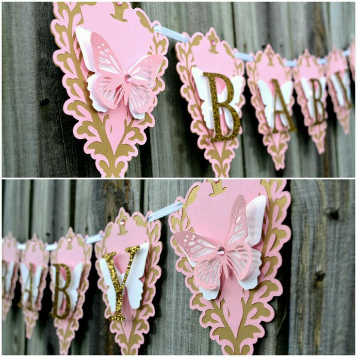 Exceptional Baby Butterfly Banner, Baby Shower Banner, Gold And Pink Baby Banner, Baby  Banner, Pink And Gold, Baby Girl Room Decor, Baby Shower Gift