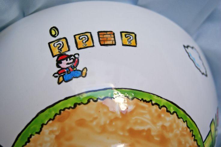 Tazón de cereales de Mario Bros.