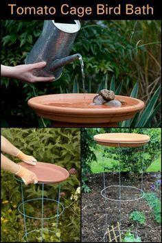 Wenn Sie nach einem einfachen DIY-Vogelbad suchen, muss diese Idee die Nummer 1 sein.