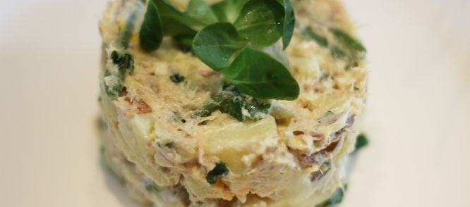 Superdeluxe Aardappelsalade Met Makreel recept   Smulweb.nl