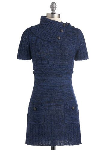 """""""Afternoon Reading Dress in Navy"""" was the original description, but even I can't repin that with a straight face.  Lets just say its a dress that someone with this figure would look awesome in, and yea, they could read if they want, but I would look like blue cotton candy, I think."""