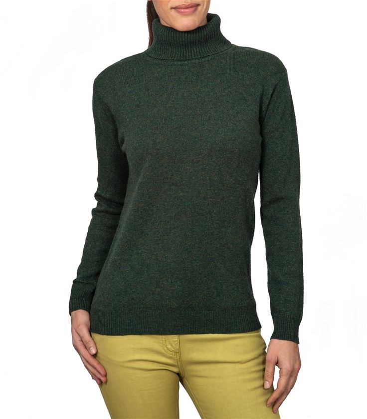 Womens Lambswool Polo Neck Jumper