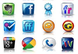 Image result for social media buttons square 3d