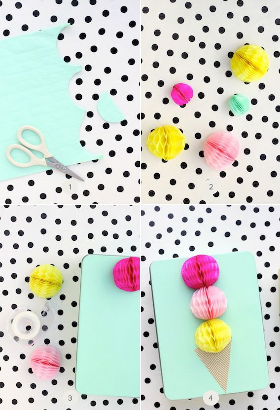 honeycomb gift toppers