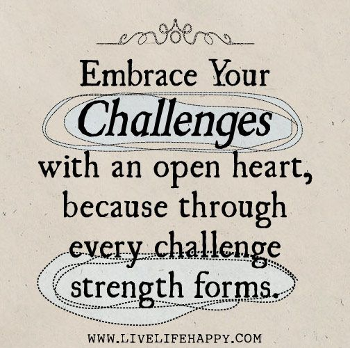 Quotes About Challenges: Embrace Your Challenges With An Open Heart, Because