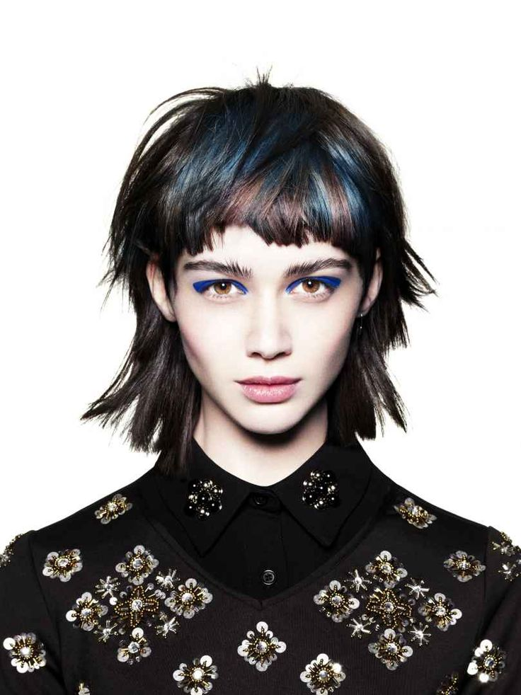 The Bronte Working with a strong textured fringe with longer length at the back, gives a modern feel to the mullet style that was popular in the 80s.
