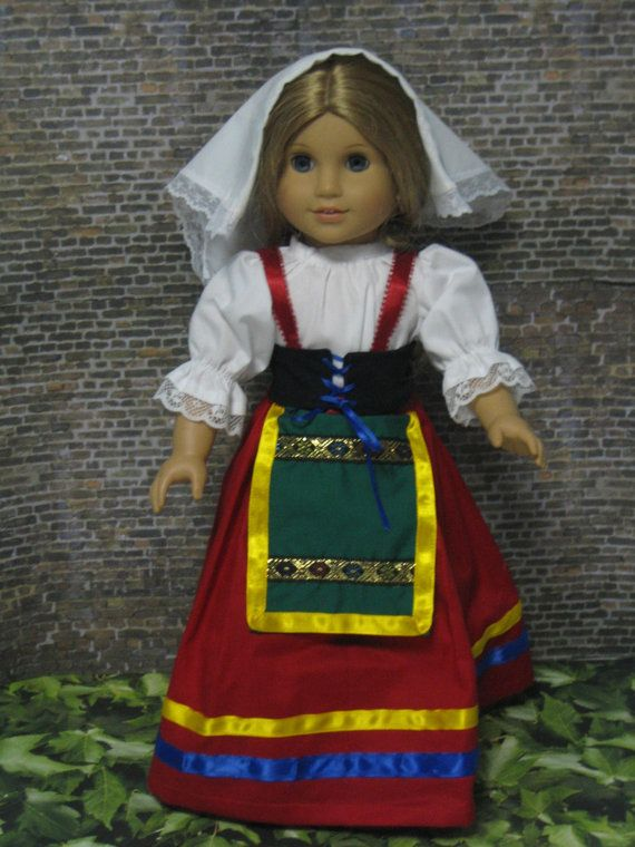 "Italian outfit for your ""American Girl"" $37.00."
