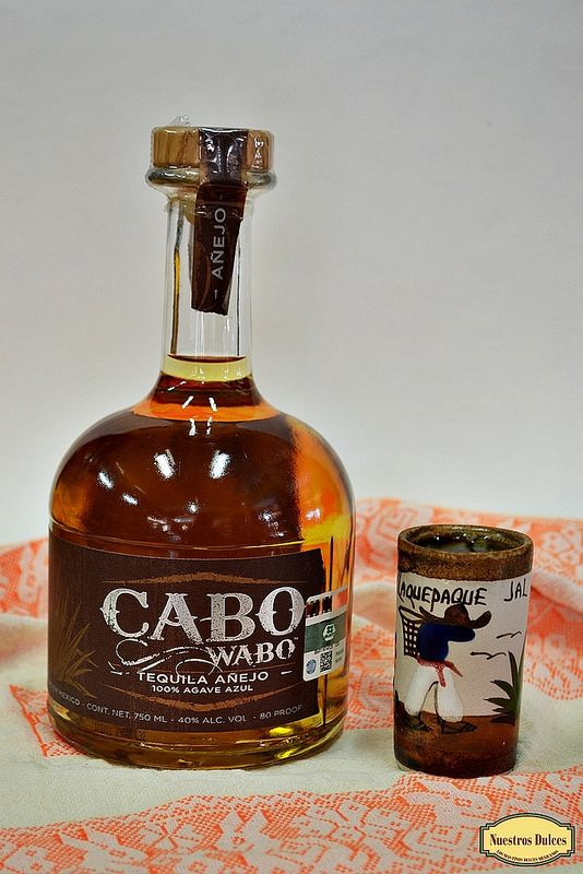 Tequila Cabo Wabo, tequila añejo 100% agave azul