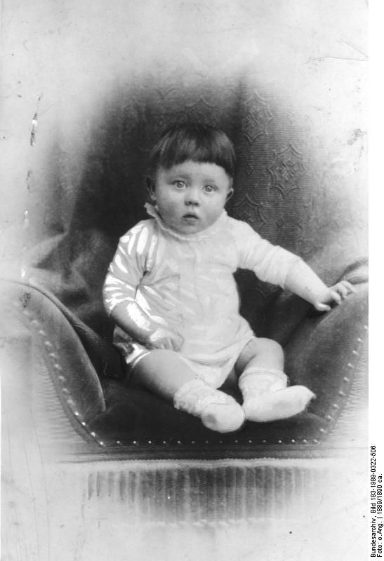 Baby Hitler is born in Braunau am Inn, Austria on the night of April 20, 1889