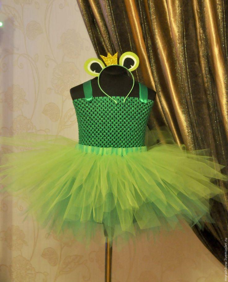 """Купить Костюм """"Царева-лягушка"""" - салатовый, в полоску, лягушка, лягушонок, костюм лягушки, карнавальный костюм"""