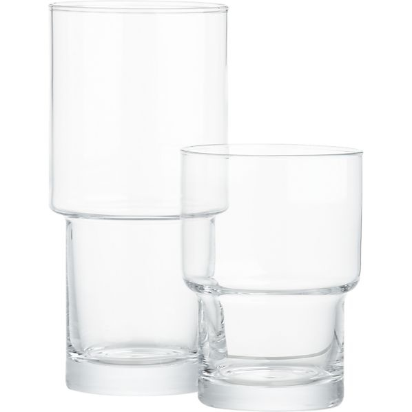 Stack Glasses in Bar and Drinking Glasses | Crate and Barrel