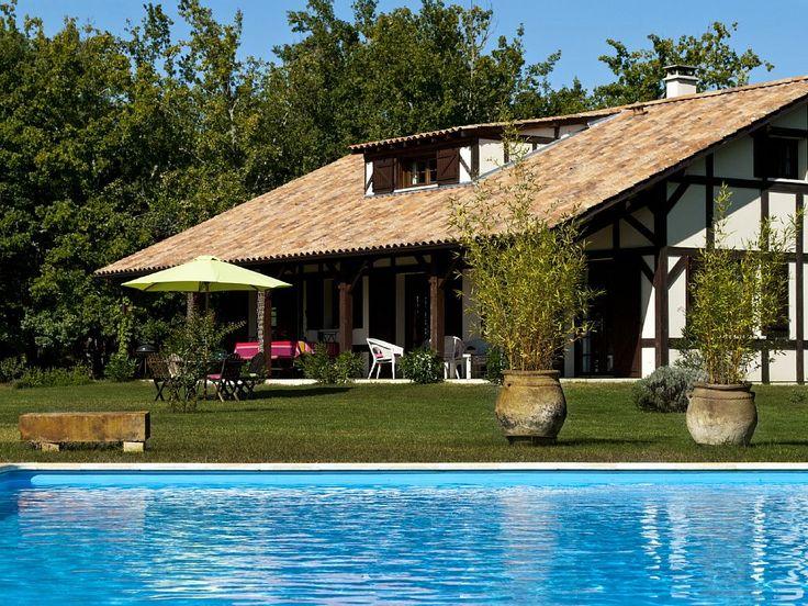 Abritel Location Saint-Julien-en-Born Grande maison 5* piscine chauffée   location maison Landes Côte d'Argent   Maison pour 10 p - 5 chambres - 3 salles de bain - piscine et pool house