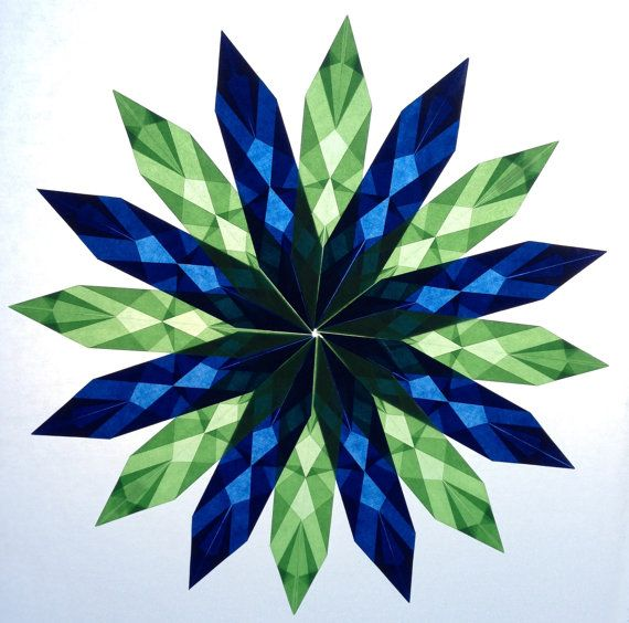 Dark blue and light green, Window Star #1, Seahawks colors