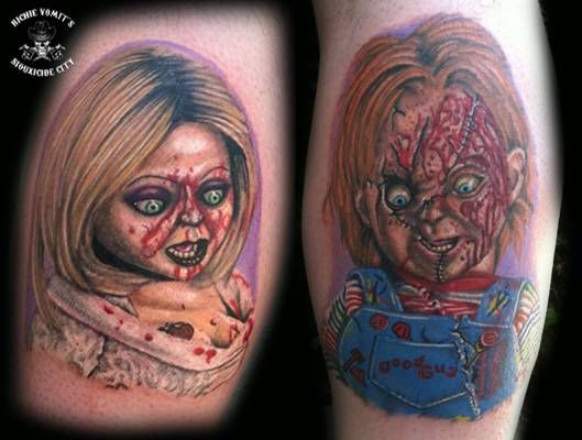 35 best chucky and bride tattoos images on pinterest for Bride of chucky tattoo