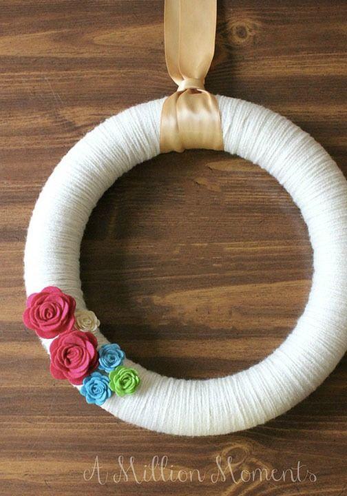 28 best spring crafts for adults images on pinterest spring crafts spring projects and glue. Black Bedroom Furniture Sets. Home Design Ideas