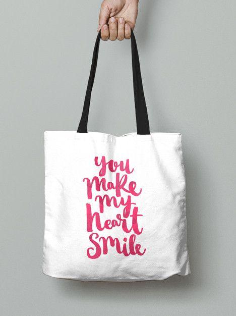 Tote Bag - You make my heart smile