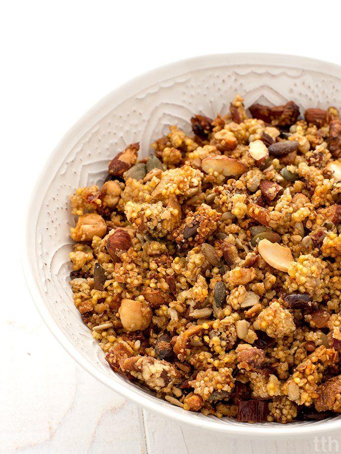Bezglutenowa granola z kaszy jaglanej