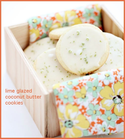 Lime Glazed Coconut Butter Cookies | Coconut Crazy | Pinterest