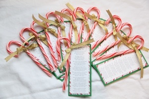 Candy cane poem--printable poem that gives meaning to the simple candy cane.