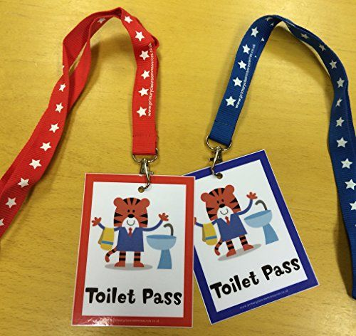 Tiger Toilet Passes - Set of 2 with Lanyards - Teacher Resource Classroom Management Primary Classroom Resources http://www.amazon.co.uk/dp/B00SDP8HI6/ref=cm_sw_r_pi_dp_Ml-Owb0FR27A5