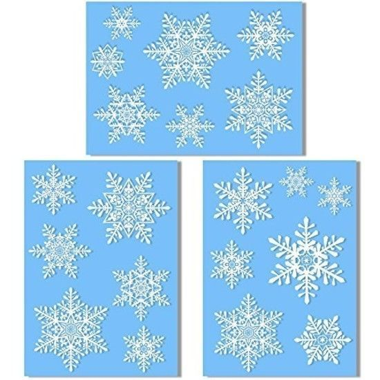 20 Large Snowflake Window Clings - Quick and Simple Christmas Decorations - Glue #Articlings