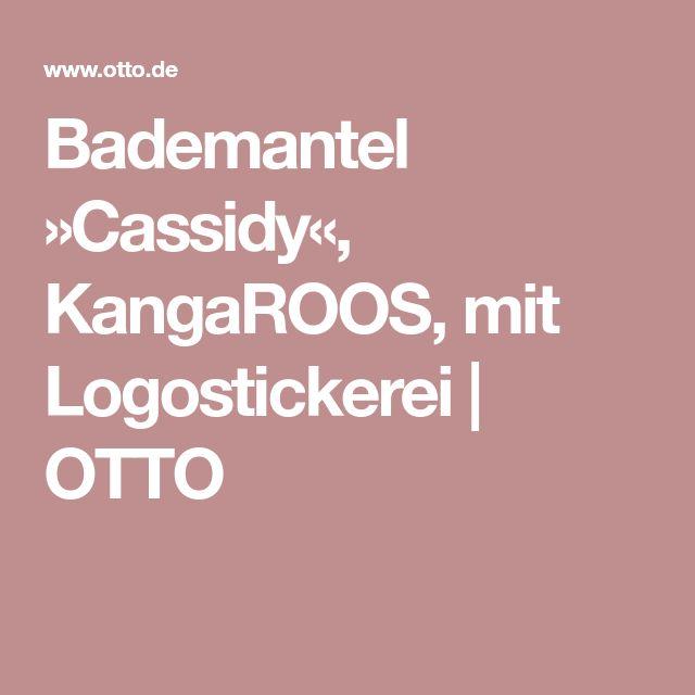 Bademantel »Cassidy«, KangaROOS, mit Logostickerei | OTTO