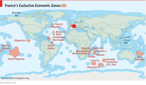 - Frances Exclusive Economic Zones.